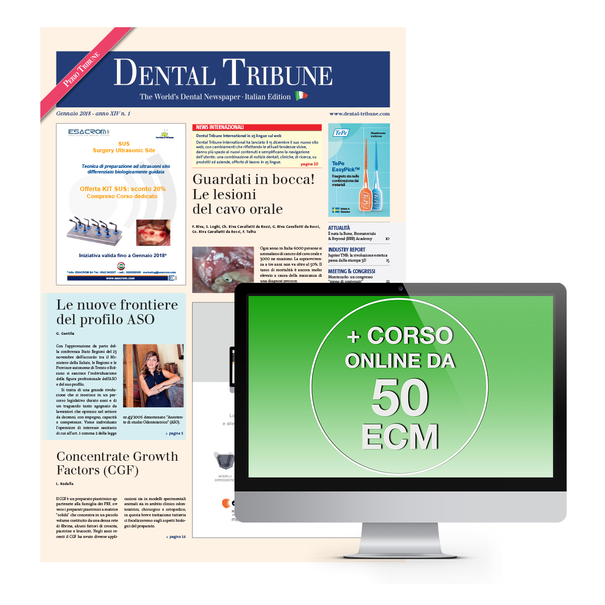 DENTAL TRIBUNE E CORSO FAD 50 ECM