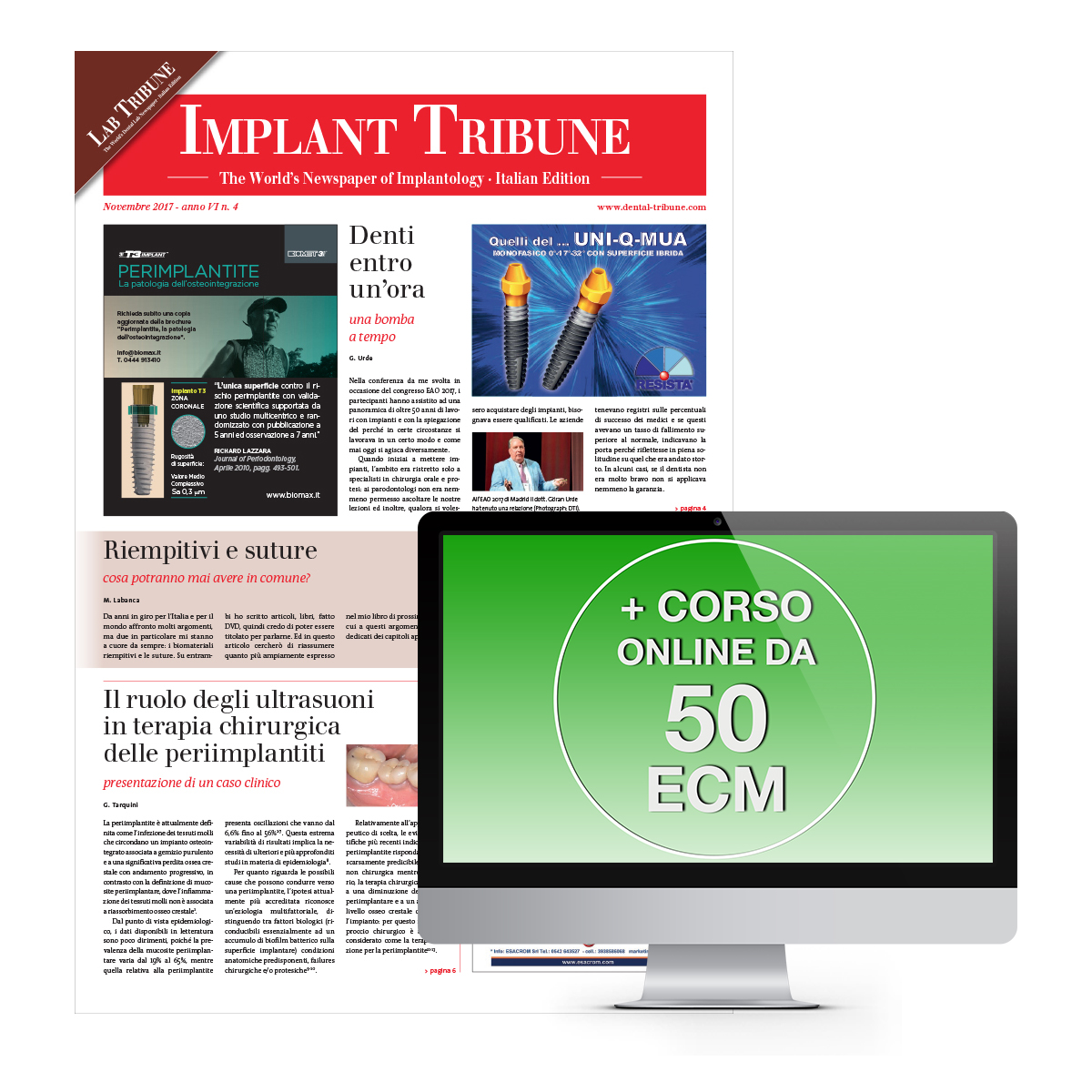 IMPLANT TRIBUNE E CORSO FAD DA 50 ECM